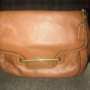 Coach leather bag cognac